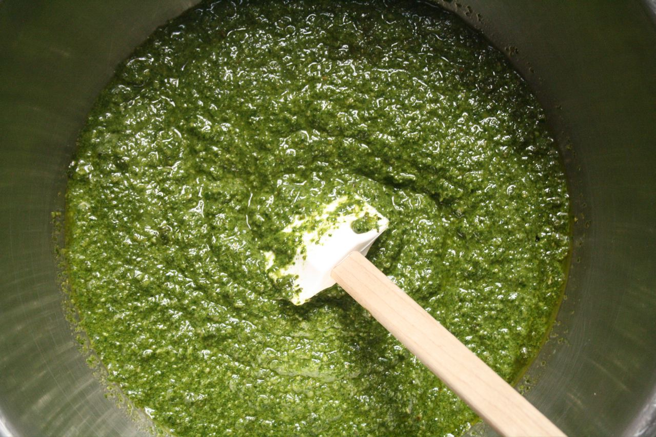 Mortar and Pestle Recipes Basil Pesto