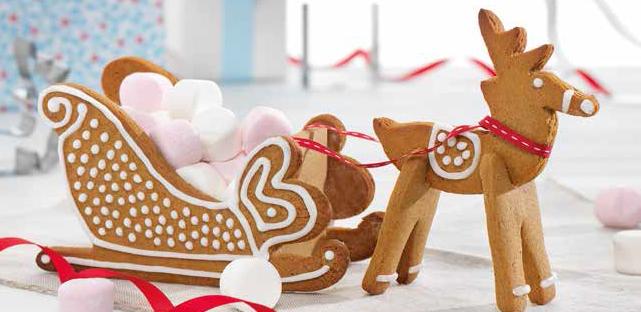 Recipe Sleigh Reindeer Gingerbread House Blog